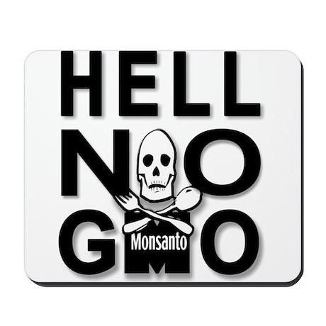 HELL NO GMO Mousepad
