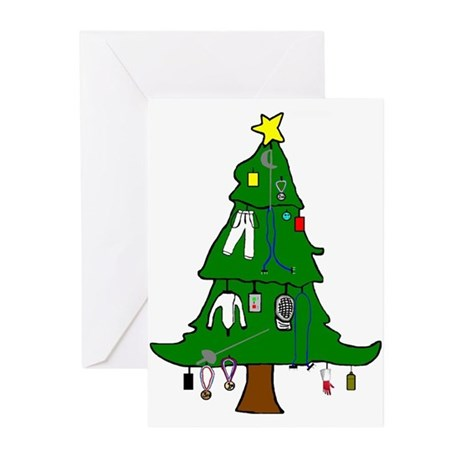 Fencer's Xmas Tree Greeting Cards (Package of