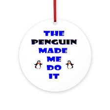 Blame the Penguin Ornament (Round)