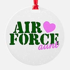 AF Aunt Green Pink Heart Ornament
