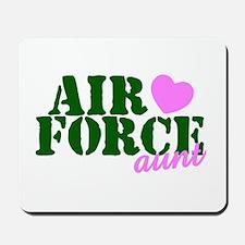 AF Aunt Green Pink Heart Mousepad