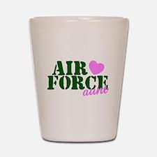 AF Aunt Green Pink Heart Shot Glass