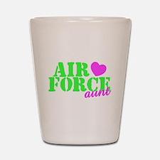 AF Aunt Lime Green Pink Heart Shot Glass