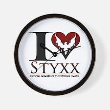 I Heart Styxx Wall Clock