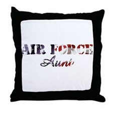 AF Aunt American Flag Throw Pillow
