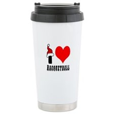 I Love Racquetball Travel Coffee Mug
