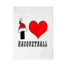 I Love Racquetball Twin Duvet