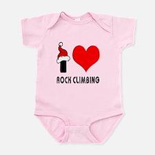 I Love Rock Climbing Infant Bodysuit