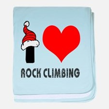 I Love Rock Climbing baby blanket