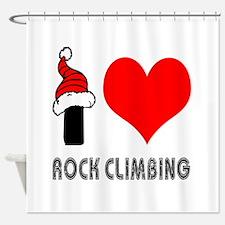 I Love Rock Climbing Shower Curtain