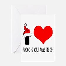 I Love Rock Climbing Greeting Card