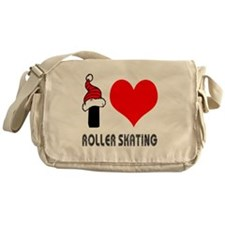 I Love Roller Skating Messenger Bag