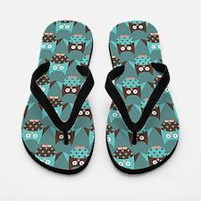 Cute Mod Owl Flip Flops