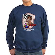 EGGBERT Black Car Driver Sweatshirt