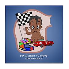 EGGBERT Black Car Driver Tile Coaster