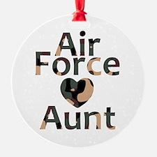 AF Aunt Camo Heart Ornament