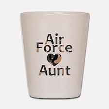 AF Aunt Camo Heart Shot Glass