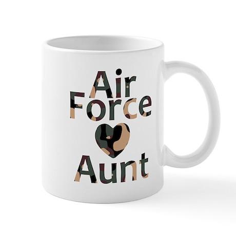 AF Aunt Camo Heart Mug