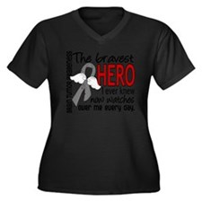 Bravest Hero I Knew Brain Tumor Plus Size T-Shirt