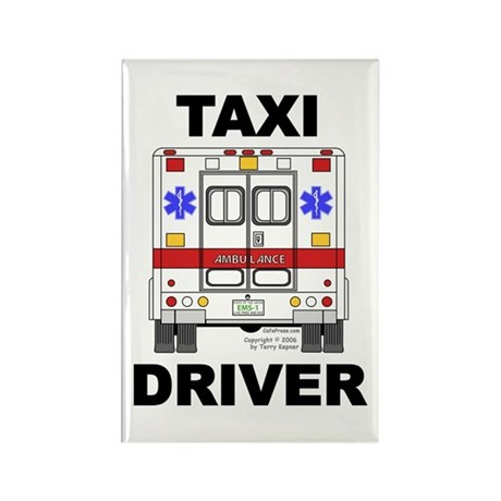 Taxi Driver Rectangle Magnet (100 pack)