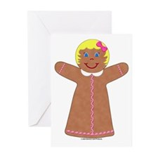 Gingerbread Girl Blond Cards (Pk of 10)
