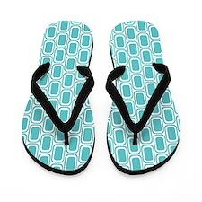 Retro Aqua Flip Flops