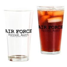 AF Proud Aunt Drinking Glass