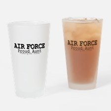 AF Proud Aunt Drinking Glass