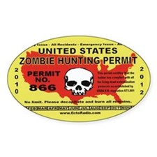 Zombie Hunting Permit,Decal Decal