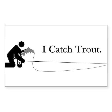 I Catch Trout Oval Sticker
