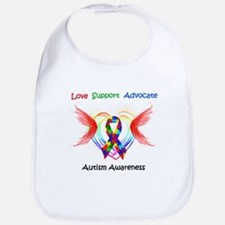 Autism Ribbon with Wings Bib