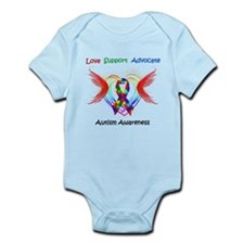 Autism Ribbon with Wings Infant Bodysuit