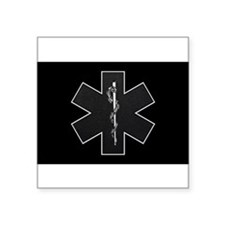 Star of Life(BW) Rectangle Sticker