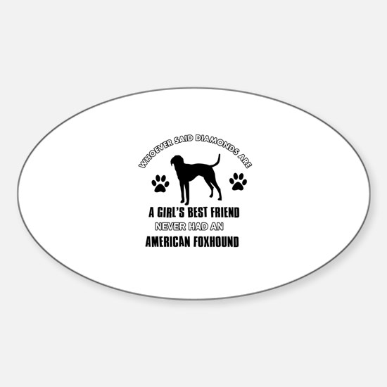 American Foxhound Mommy designs Sticker (Oval)