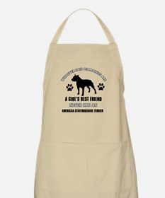 American Staffordshire Terrier Mommy designs Apron