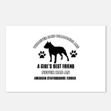 American Staffordshire Terrier Mommy designs Postc