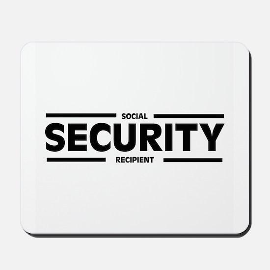 Social SECURITY Recipient Mousepad