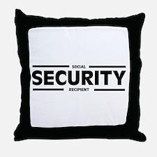 Social SECURITY Recipient Throw Pillow