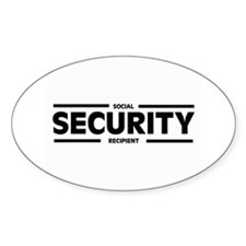 Social SECURITY Recipient Oval Decal