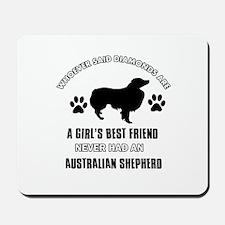 Australian Shepherd Mommy designs Mousepad