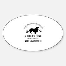 Australian Shepherd Mommy designs Sticker (Oval)
