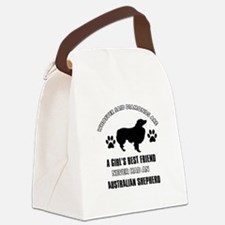 Australian Shepherd Mommy designs Canvas Lunch Bag