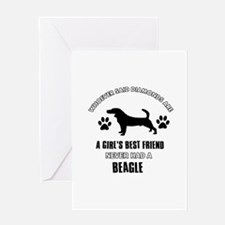 Beagle Mommy designs Greeting Card