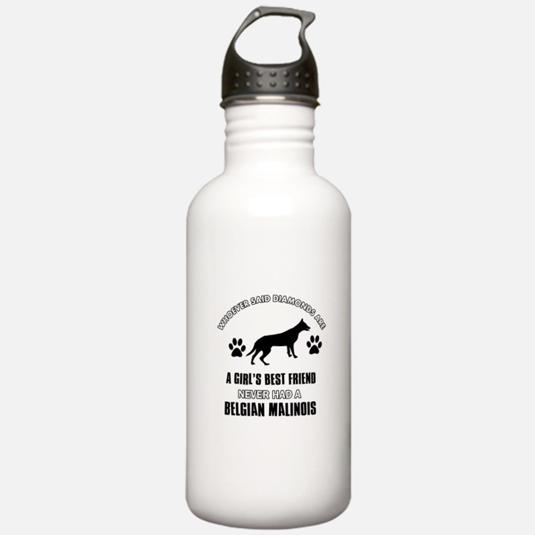 Belgian Malinois Mommy designs Water Bottle