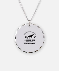 Belgian Malinois Mommy designs Necklace Circle Cha