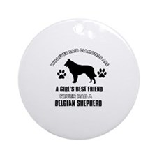 Belgian Shepherd Mommy designs Ornament (Round)
