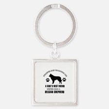 Belgian Shepherd Mommy designs Square Keychain