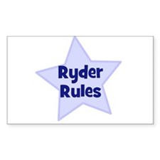 Ryder Rules Rectangle Decal