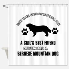 Bernese Mountain Mommy designs Shower Curtain