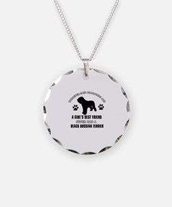 Black Russian Terrier Mommy designs Necklace